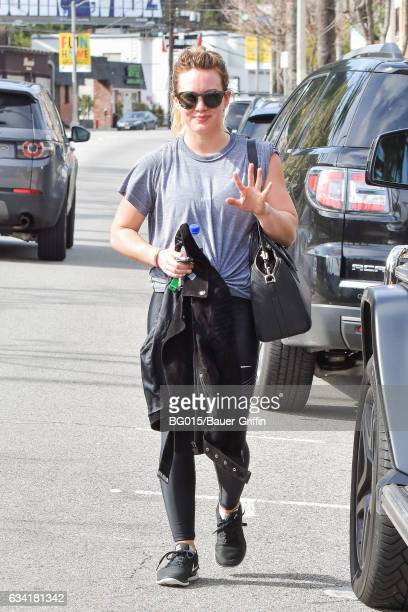Hilary Duff is seen on February 07 2017 in Los Angeles California