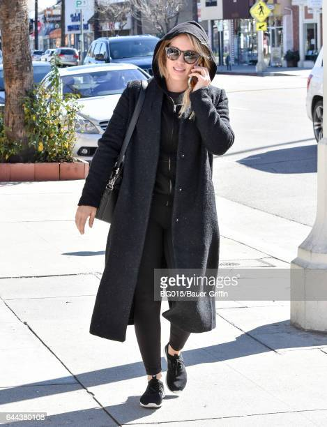 Hilary Duff is seen on February 23 2017 in Los Angeles California