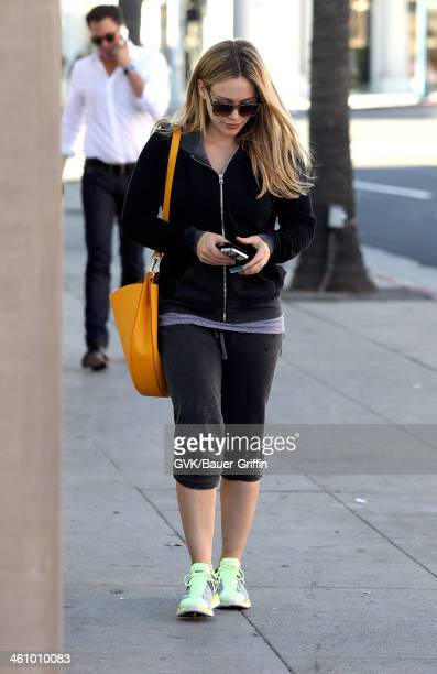 Hilary Duff is seen on January 06 2014 in Los Angeles California