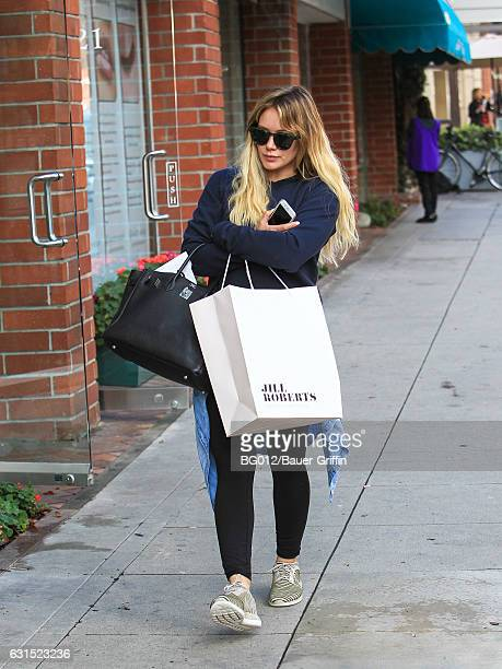Hilary Duff is seen on January 11 2017 in Los Angeles California