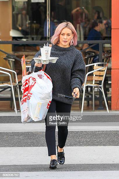 Hilary Duff is seen on January 22 2016 in Los Angeles California