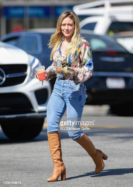 Hilary Duff is seen on March 04, 2020 in Los Angeles, California.