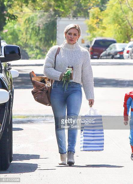 Hilary Duff is seen on March 06 2016 in Los Angeles California
