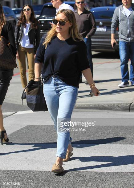 Hilary Duff is seen on March 5 2018 in Los Angeles California