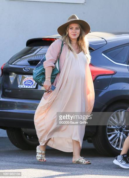 Hilary Duff is seen on October 11 2018 in Los Angeles California