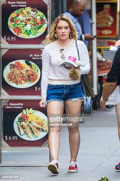 Hilary Duff is seen on set of 'Younger' in Midtown on July 6 2016 in New York City