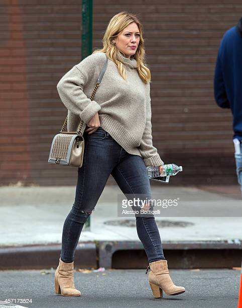 Hilary Duff is seen walking on set of 'Younger' on October 13 2014 in Brooklyn borough of New York City