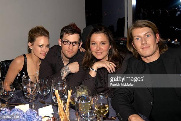 Hilary Duff Joel Madden Deborah Waknin and attend VERSACE VIP Dinner at 1 Beacon Court on February 7 2006 in New York