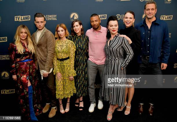 Hilary Duff Nico Tortorella Molly Bernard Miriam Shor Charles Michael Davis Debi Mazur Sutton Foster and Peter Hermann from 'Younger' attend the...