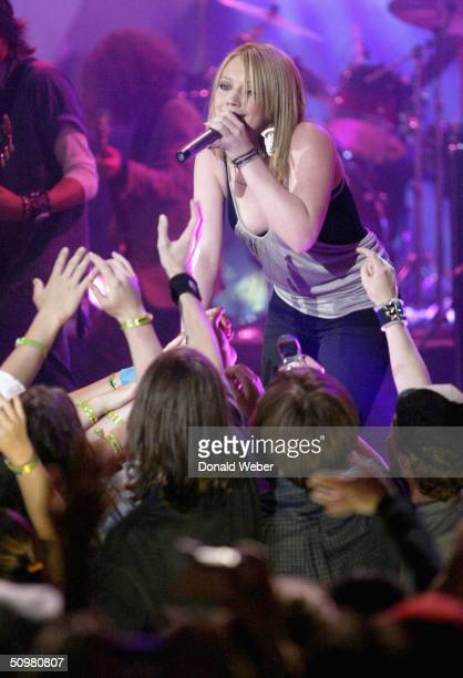 Hilary Duff performs live during the Much Music Video Awards on June 20 in Toronto Canada