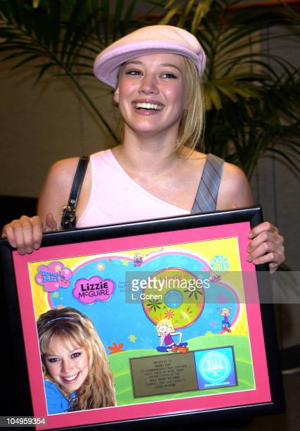 Hilary Duff receives her Gold Record Award for ''Lizzie McGuire'' Soundtrack CD