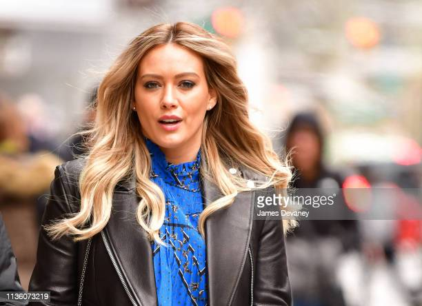 Hilary Duff seen on the set of 'Younger' on April 9, 2019 in New York City.