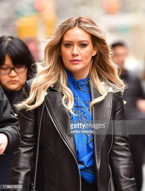 Hilary Duff seen on the set of 'Younger' on April 9 2019 in New York City