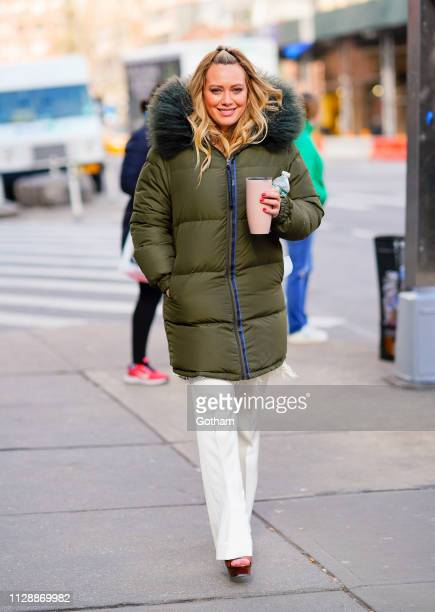Hilary Duff seen walking to the set of 'Younger' on March 6 2019 in New York City