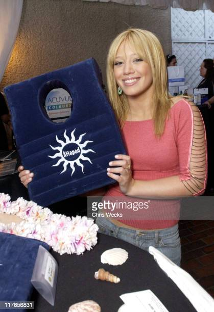 Hilary Duff visit Attapad during 2003 Teen Choice Awards Backstage Creations Day of Show at Universal Amphitheatre in Universal City California...