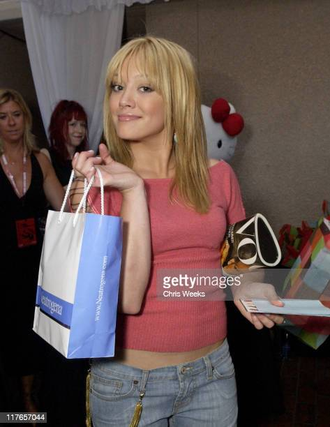 Hilary Duff visits Neutrogena during 2003 Teen Choice Awards Backstage Creations Day of Show at Universal Amphitheatre in Universal City California...