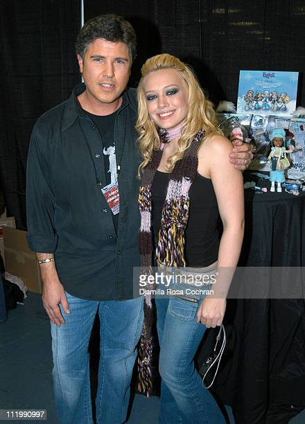 Hilary Duff with MGA Entertainment's Bratz Wintertime Wonderland Dolls at Z100's Jingle Ball 2003 Talent Gift Lounge produced by On 3 Productions