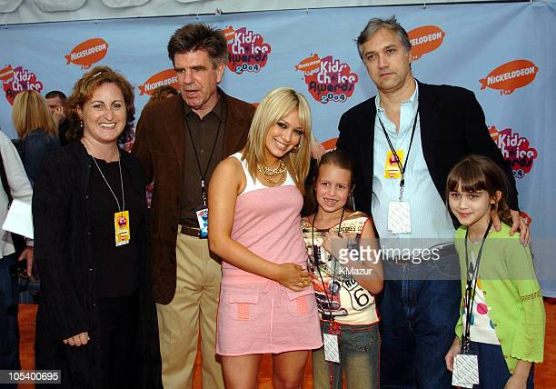 Hilary Duff with MTV Networks President Tom Freston Nickelodeon President Herb Scannell and guests