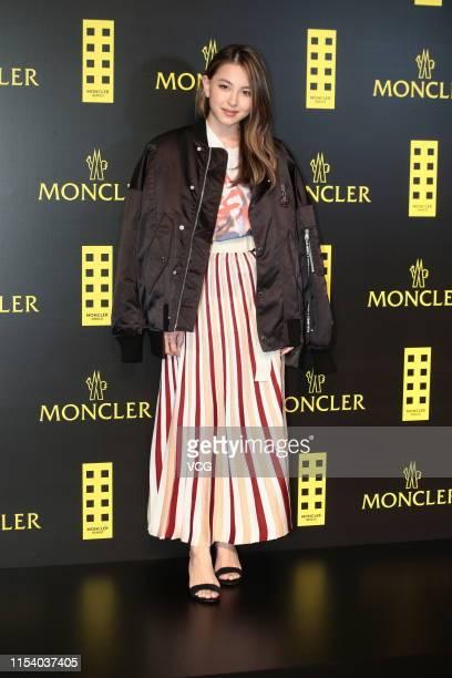 Hilary Fan daughter of actress Anna Ueyama attends Moncler event at Tsim Sha Tsui on June 5 2019 in Hong Kong China