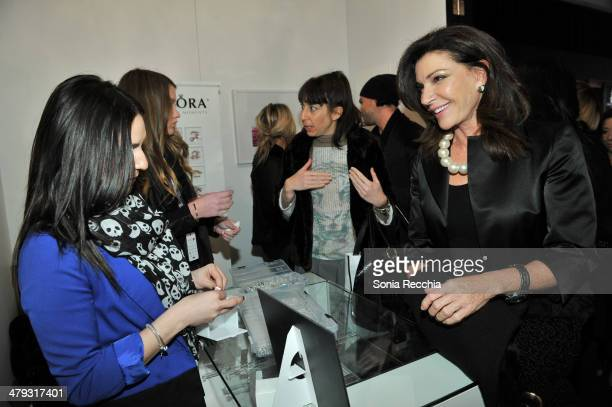Hilary Farr attends the PANDORA Jewellery lounge At World MasterCard Fashion Week In Toronto - Day 1 at David Pecaut Square on March 17, 2014 in...