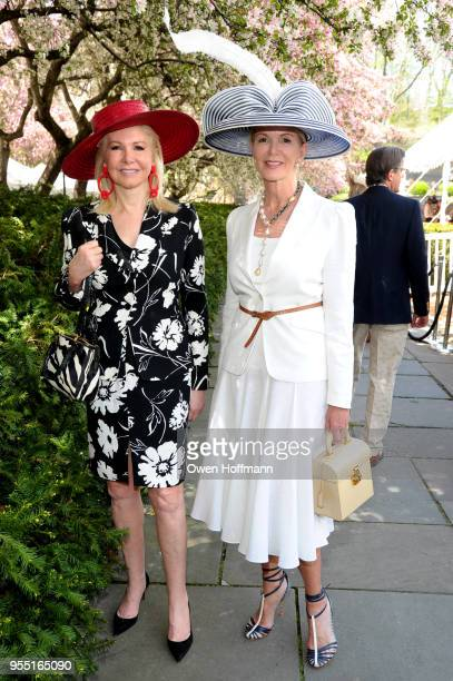Hilary Geary Ross and Blaine Trump attend 36th Annual Frederick Law Olmsted Awards Luncheon Central Park Conservancy at The Conservatory Garden in...