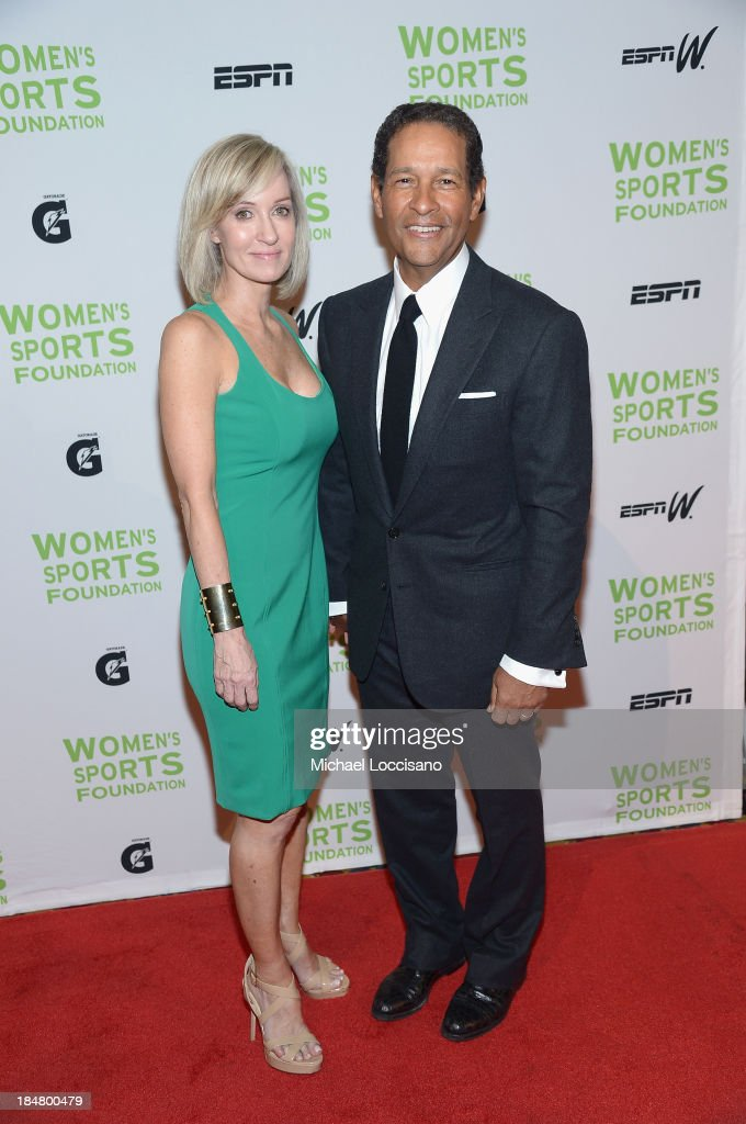 Hilary Gumbel (L) and Bryant Gumbel attends the 34th annual Salute to Women In Sports Awards at Cipriani, Wall Street on October 16, 2013 in New York City.