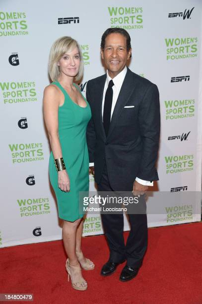 Hilary Gumbel and Bryant Gumbel attends the 34th annual Salute to Women In Sports Awards at Cipriani Wall Street on October 16 2013 in New York City