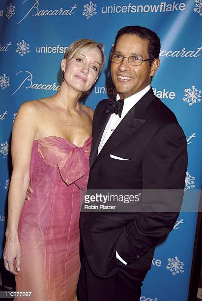 Hilary Gumbel and Bryant Gumbel during 2nd Annual UNICEF Snowflake Ball Arrivals at The Waldorf Astoria Hotel in New York City New York United States