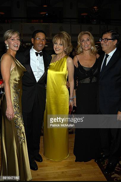 Hilary Gumbel Bryant Gumbel Claudia Cohen Susan Hess and Bob Colacello attend The Alzheimer's Association Rita Hayworth Gala Meet Me At The Stork...