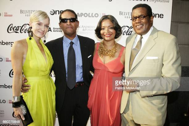 Hilary Gumbel Bryant Gumbel Jonelle Procope and Fred Terrell attend The 75th Anniversary of THE APOLLO THEATER at Apollo Theater on June 8 2009 in...