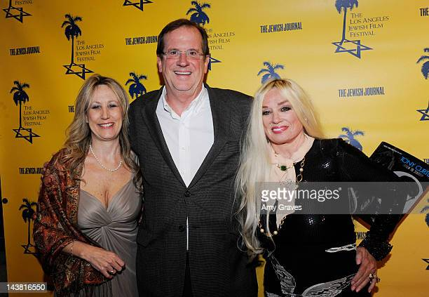 Hilary Helstein Pete Hammond and Mamie Van Doren attend the LA Jewish Film Festival Celebrates Tony Curtis event at Writers Guild Theater on May 3...