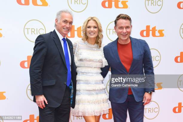 Hilary Jones, Charlotte Hawkins and Richard Arnold attend The TRIC Awards 2021 at 8 Northumberland Avenue on September 15, 2021 in London, England.