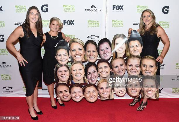 Hilary Knight Brianna Decker and Meghan Duggan attend The Women's Sports Foundation's 38th Annual Salute To Women in Sports Awards Gala on October 18...