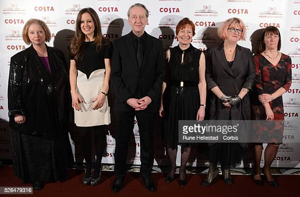 Hilary Mantel Francesca Segal Bryan Talbot Mary Talbot Sally Gardner and Kathleen Jamie attend the Costa Book Of The Year Awards at Quaglino's in...