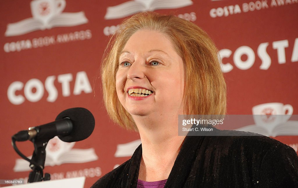 Hilary Mantel wins the Costa Book Of The Year at the Costa Book of the Year awards at Quaglino?s on January 29, 2013 in London, England.