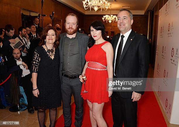 Hilary Oliver Steve Oram Alice Lowe and Rich Cline attend The London Critics' Circle Film Awards at The Mayfair Hotel on January 18 2015 in London...