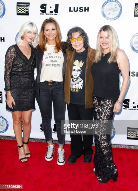 Hilary Pickles Maria Menounos Lily Tomlin and Heidi Jo Markel attend the Voice for Animals 3rd annual 'Wait Wait Don't Kill Me' comedy gala at The...