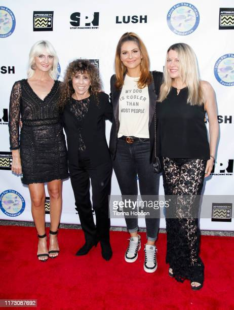 Hilary Pickles Melya Kaplan Maria Menounos and Heidi Jo Markel attend the Voice for Animals 3rd annual 'Wait Wait Don't Kill Me' comedy gala at The...
