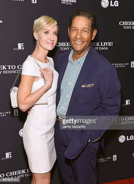 Hilary Quinlan and Bryant Gumbel arrive to their 'Cheek To Cheek' taping at at Jazz at Lincoln Center on July 28 2014 in New York City