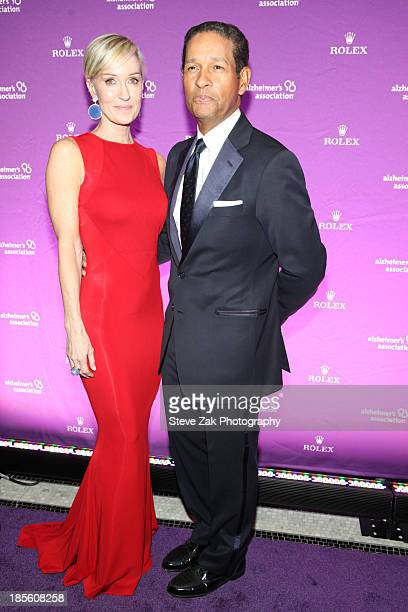 Hilary Quinlan and Bryant Gumbel attend 2013 Alzheimer's Association Rita Hayworth 30th Anniversary gala at The Waldorf Astoria on October 22 2013 in...