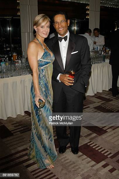 Hilary Quinlan and Bryant Gumbel attend French Institute Hosts 2005 Trophee des Arts Gala at Rainbow Room on October 20 2005 in New York City