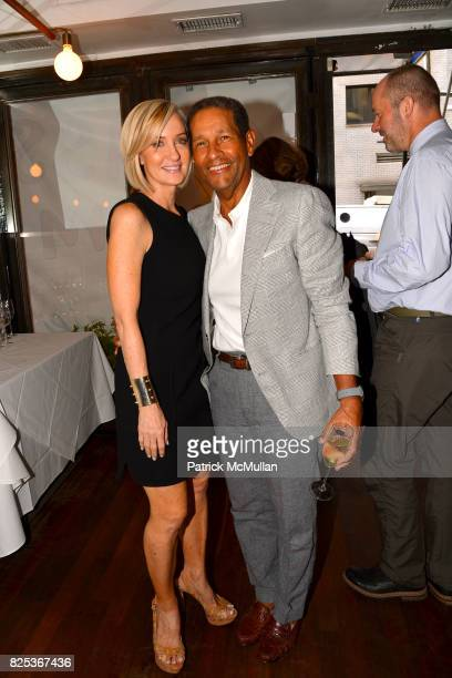 Hilary Quinlan and Bryant Gumbel attend Michael Gelman Celebrates The Launch Of CLASS MOM A Novel By Laurie Gelman at Loi Estiatorio on July 26 2017...