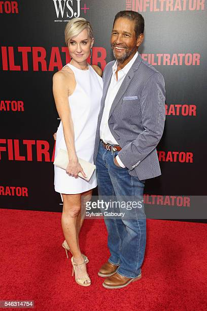 Hilary Quinlan and Bryant Gumbel attend New York Premiere of Broad Green Pictures' THE INFILTRATOR at AMC Loews Lincoln Square on July 11 2016 in New...