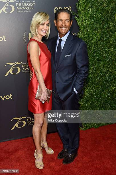 Hilary Quinlan and Bryant Gumbel attend The 75th Annual Peabody Awards Ceremony at Cipriani Wall Street on May 20 2016 in New York City
