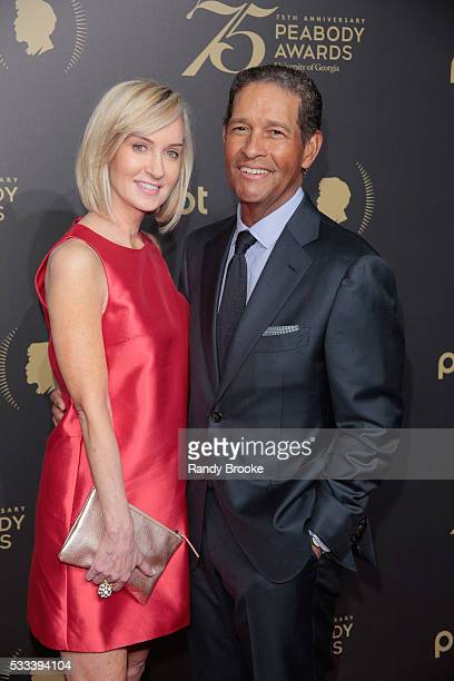 Hilary Quinlan and Bryant Gumbel attend the 75th Annual Peabody Awards Ceremony at Cipriani Wall Street on May 21 2016 in New York City