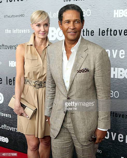 Hilary Quinlan and Bryant Gumbel attend The Leftovers premiere at NYU Skirball Center on June 23 2014 in New York City