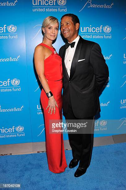 Hilary Quinlan and Bryant Gumbel attend the Unicef SnowFlake Ball at Cipriani 42nd Street on November 27 2012 in New York City