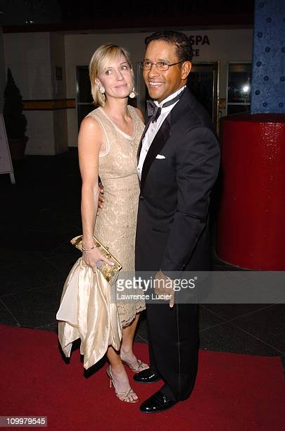 Hilary Quinlan and Bryant Gumbel during 11th Annual Arthur Ashe Institute for Urban Health Sportsball at Pier 60 in New York City New York United...