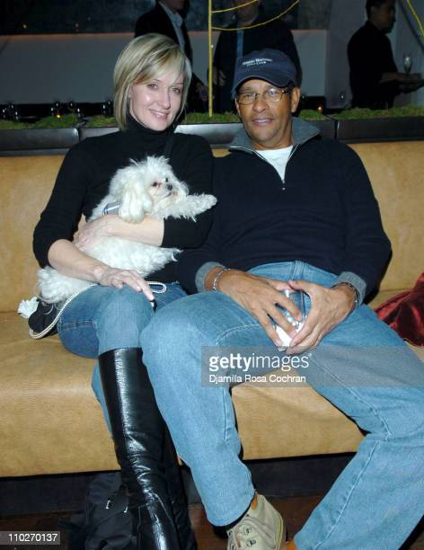 Hilary Quinlan and Bryant Gumbel during Chinese New Year Event with Beth Ostrosky January 27 2006 at Sapa in New York City New York United States