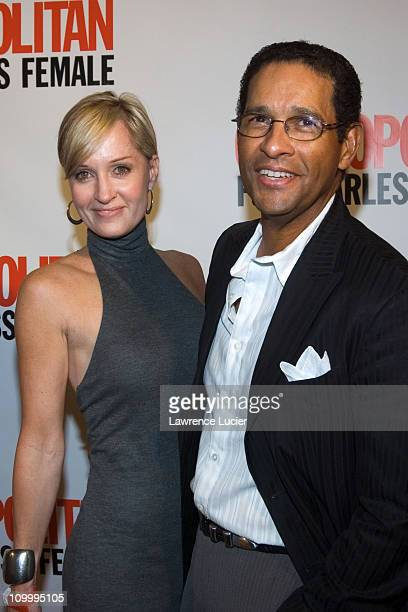 Hilary Quinlan and Bryant Gumbel during Cosmopolitan's 40th Birthday Bash at Skylight Studios in New York City New York United States